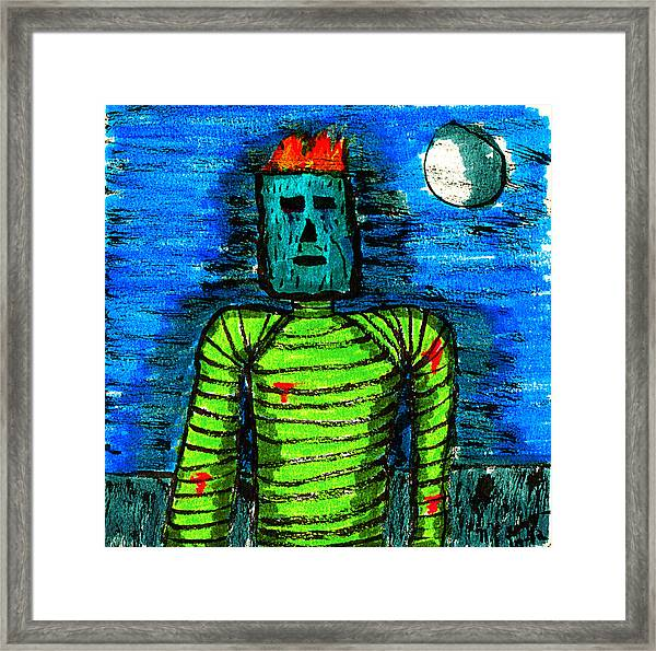 Modern Prometheus Framed Print