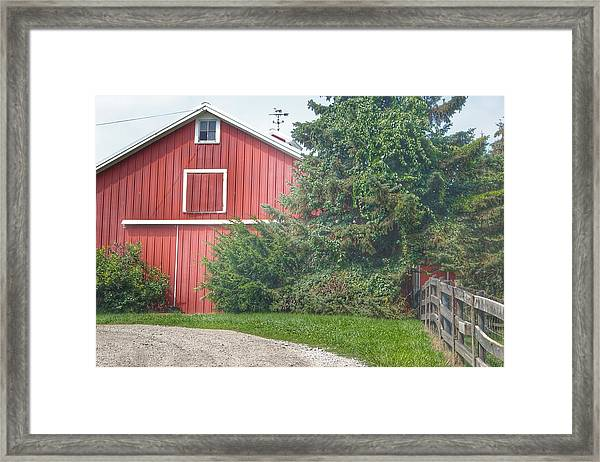 0030 - Modern Red I Framed Print