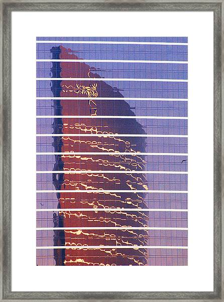 Modern Reflections In Sin City Framed Print