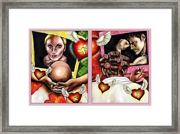 Modern Romance Framed Print