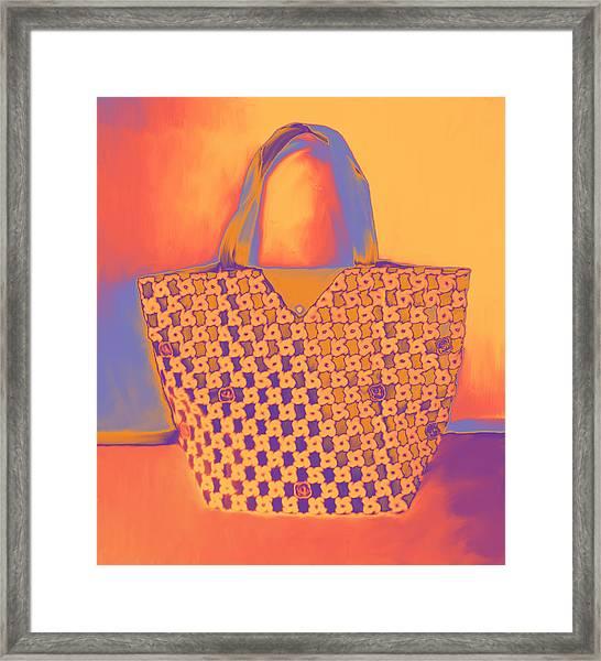 Modern Shopping Bag Framed Print