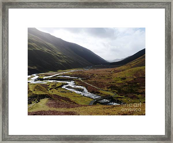 Moffat Water Valley Framed Print by Phil Banks