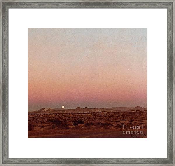 Mojave Sunset Framed Print