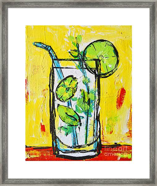 Mojito - Latin Tropical Drink Modern Art Framed Print