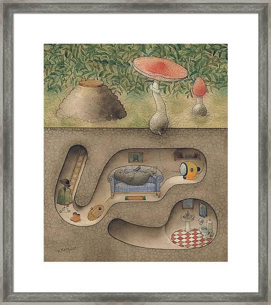 Mole Framed Print