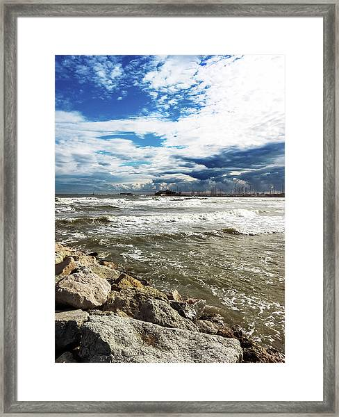 Mole Stones  In Rimini Framed Print