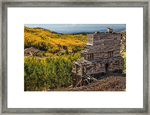 Mollie Kathleen Gold Mine In Autumn Framed Print