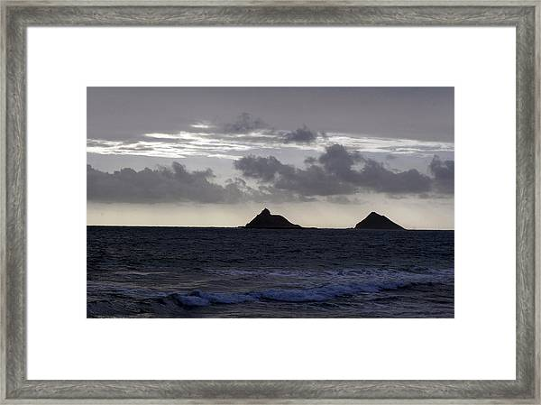Molokai From Oahu Framed Print
