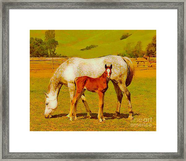 Mom And Me Framed Print