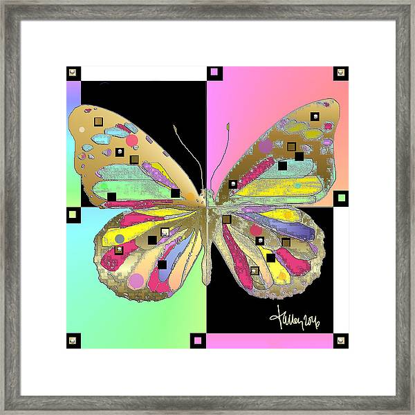 Framed Print featuring the digital art Moment Of Transformation II by Larry Talley