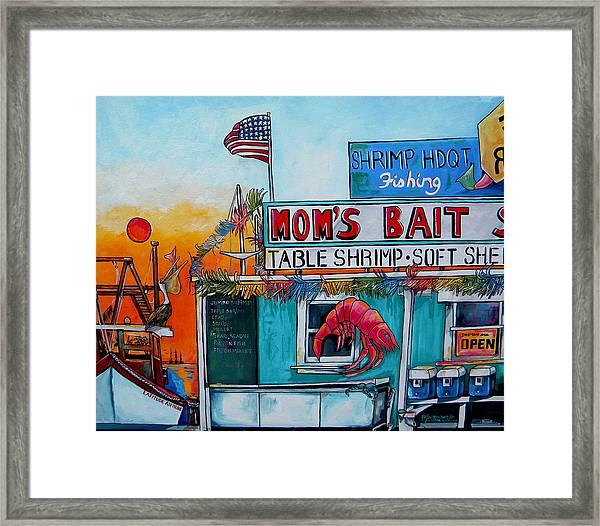 Moms Bait Shop Framed Print
