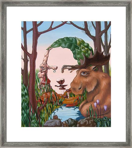 Mona Lisa . Earth Framed Print