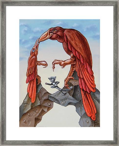 Mona Lisa. Air. Framed Print