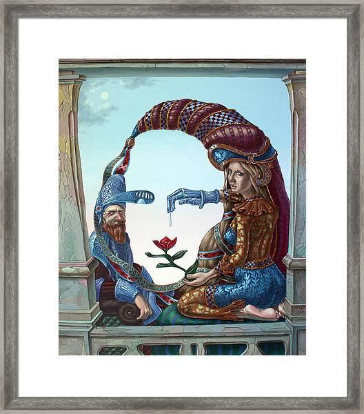 Mona Lisa. Love Framed Print