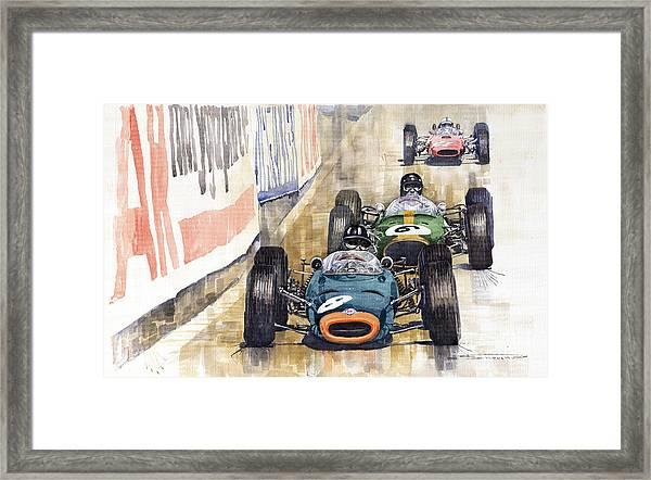 Monaco Gp 1964 Brm Brabham Ferrari Framed Print