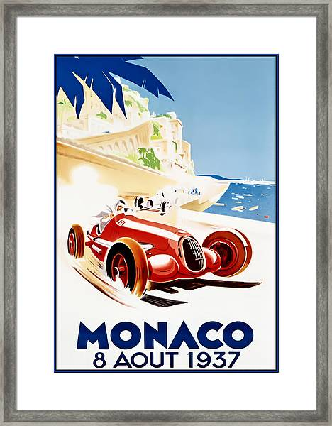 Monaco Grand Prix 1937 Framed Print