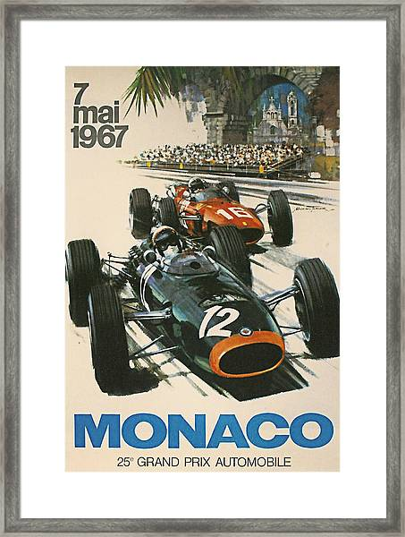 Monaco Grand Prix 1967 Framed Print