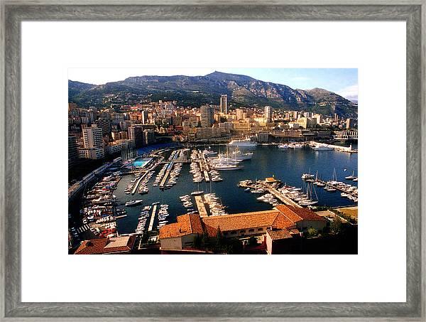 Monaco Harbor Framed Print