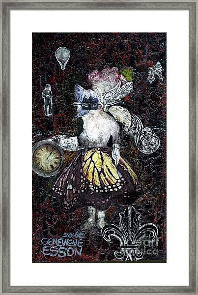 Monarch Steampunk Goddess Framed Print