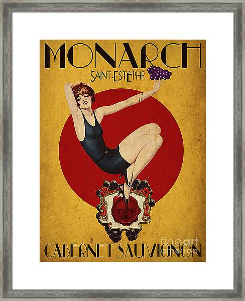 Monarch Wine A Vintage Style Ad Framed Print