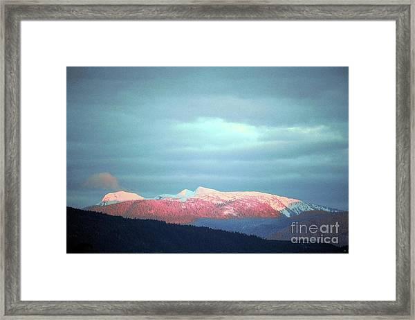 Monashee Sunset Framed Print