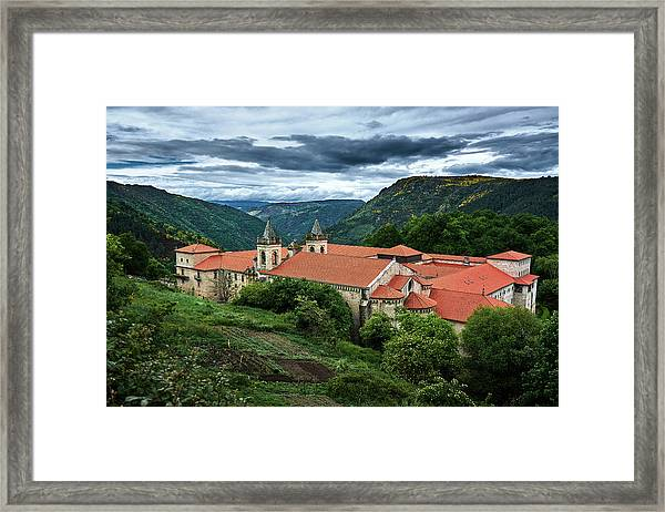 Monastery Of Santo Estevo De Ribas Del Sil Framed Print