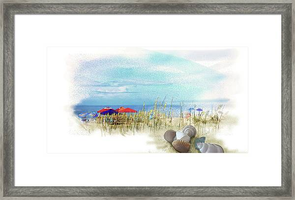 Framed Print featuring the digital art Monday Afternoon by Gina Harrison