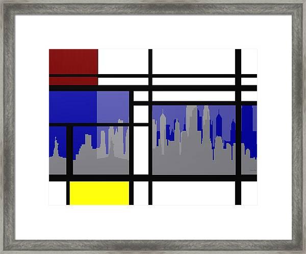 Mondrian In N Y Framed Print