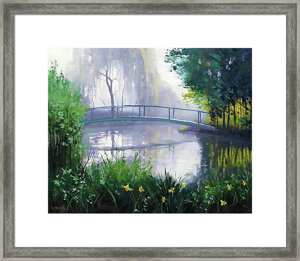 Monet's Garden  Framed Print