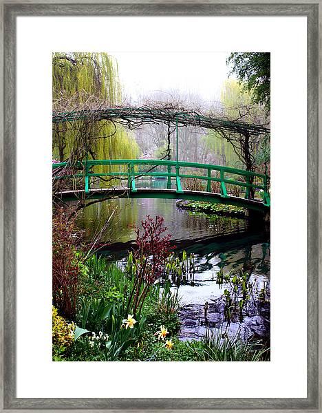 Monet's Magical Bridge Framed Print