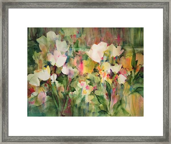Monet's Tulips Framed Print