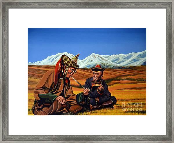 Mongolia Land Of The Eternal Blue Sky Framed Print