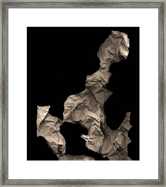 Monk Encounters His Dragon Framed Print