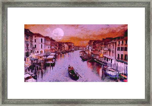 Monkey Painted Italy Again Framed Print
