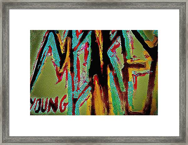 Monkey Young  Framed Print