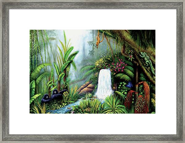 Monkeying Around Framed Print