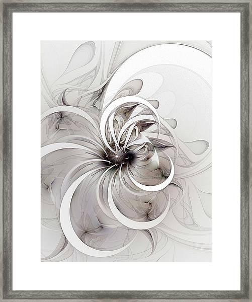 Monochrome Flower Framed Print