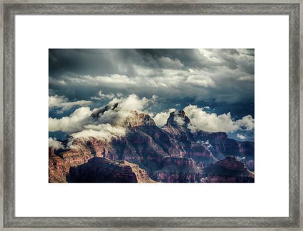 Monsoon Clouds Grand Canyon Framed Print