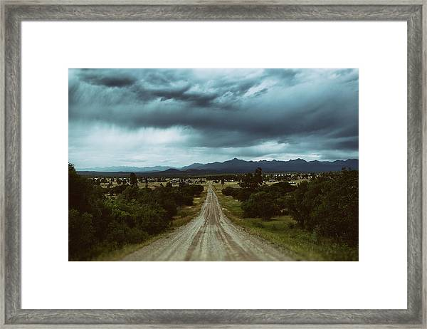 Monsoons From The Meadows Framed Print