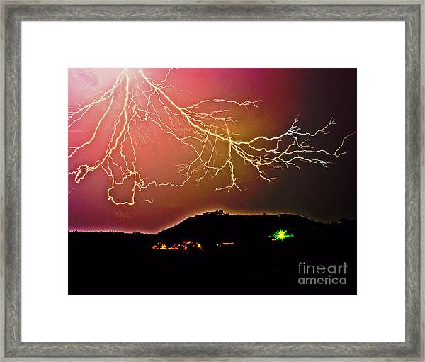 Monster Lightning By Michael Tidwell Framed Print