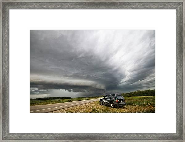 Monster Storm Near Yorkton Sk Framed Print