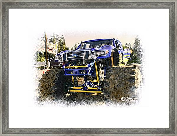Framed Print featuring the photograph Monster Truck At The Fair by William Havle