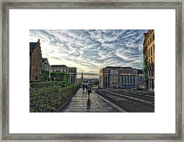 Mont Des Arts Hdr Framed Print