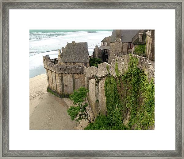 Mont St Michel Outer Wall Framed Print