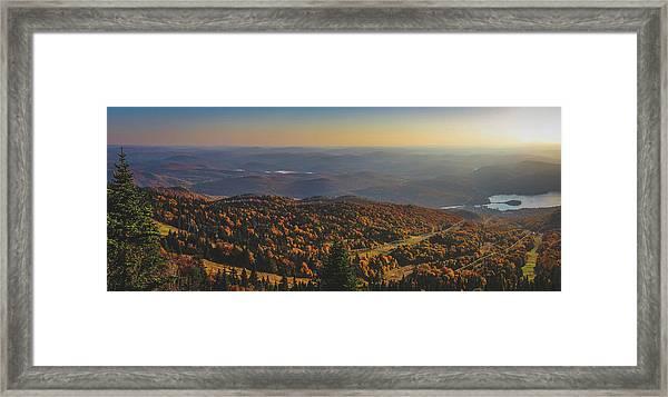 Mont Tremblant Summit Panorama Framed Print