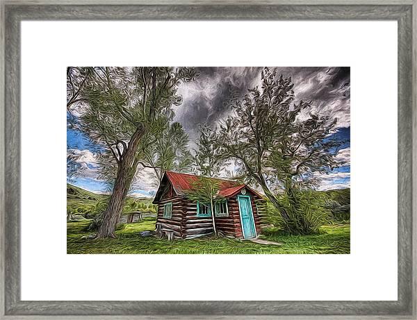 Montana Cabin Framed Print