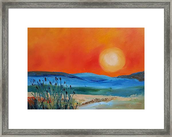 Montana Firery Sunset             49 Framed Print