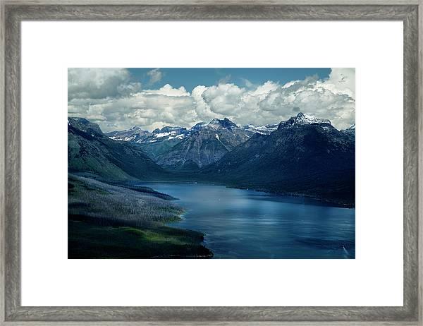 Montana Mountain Vista And Lake Framed Print