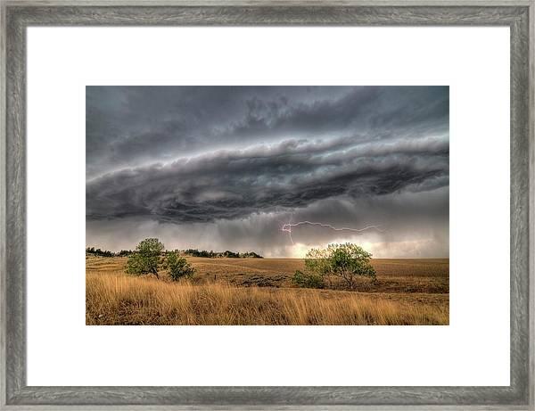 Montana Storm Framed Print