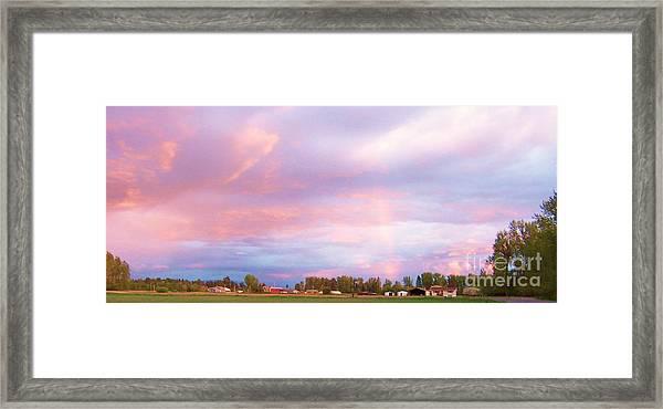 Montana Sunset 1 Framed Print